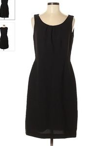 TAHARI ASL Black Scoop neck Midi Dress